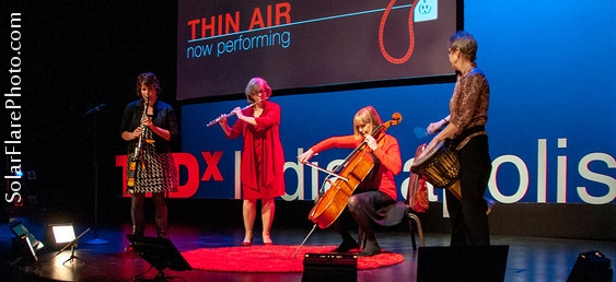 Thin Air on stage at TEDx Indianapolis - Photo SolarFlarePhoto.com