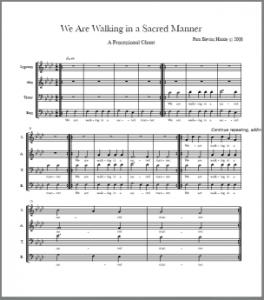 Walking in a Sacred Manner